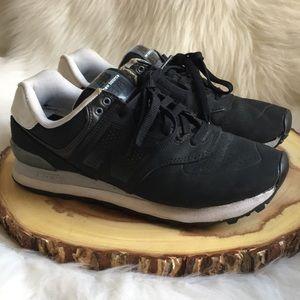 new balance 574 black velcro